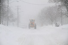 Clearing Snow Royalty Free Stock Images