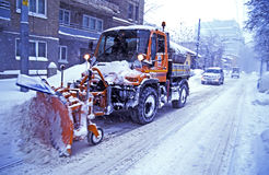 Clearing Snow Stock Image