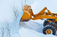 Clearing snow Stock Photos
