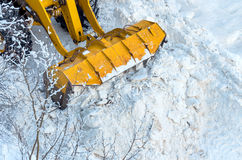 Clearing snow Stock Photography