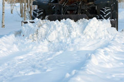 Clearing snow Royalty Free Stock Photo