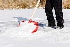 Clearing snow shovel Royalty Free Stock Photos
