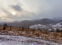 Clearing Snow Storm in the Rocky Mountains Stock Photography