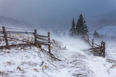 Clearing Snow Storm in the Rocky Mountains Stock Image