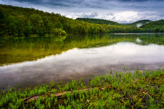 Clearing storm clouds over Long Pine Run Reservoir, Michaux Stat Stock Image