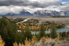 Clearing Storm at Snake River Overlook Royalty Free Stock Images