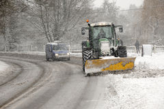 Clearing The Winter Snow Stock Image