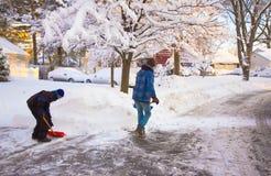 clearingowy śnieg Obraz Stock