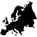 clearl每国家(地区)的欧罗巴 免版税图库摄影