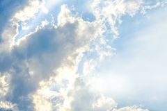 Beautiful cloud and sky. Clearly beautiful blue sky with unique cloud stock images