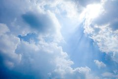 Beautiful cloud and sky. Clearly beautiful blue sky with unique cloud royalty free stock photos