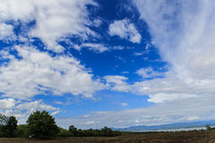 Clearly blue sky. White clouds Royalty Free Stock Photos
