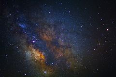 Clearly center of milky way galaxy at phitsanulok in thailand. L stock photos