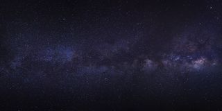 Clearly milky way galaxy with stars and space dust in the univer. Se Royalty Free Stock Images
