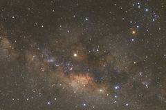 Clearly milky way galaxy with stars and space dust in the univer. Se Royalty Free Stock Photos