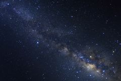 Clearly milky way galaxy with stars and space dust in the univer. Se Royalty Free Stock Photography
