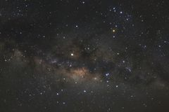 Clearly milky way galaxy with stars and space dust in the univer. Se Royalty Free Stock Photo