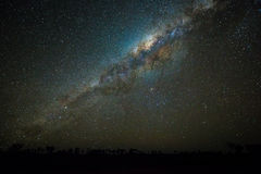Clearly milky way at night Stock Images