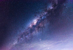 Clearly milky way on night sky Royalty Free Stock Image