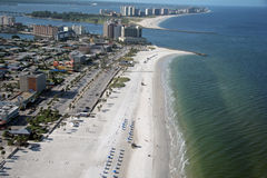 Clearwater Beach. Aerial view of Clearwater beach, Florida Stock Photos