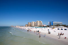 Clearwater Beach Florida. Vacationers play on Clearwater Beach, Florida, USA, on February 12, 2017 Royalty Free Stock Images