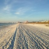Clearwater, FL, Grabijąca plaża obraz stock