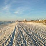 Clearwater FL, krattad strand fotografering för bildbyråer