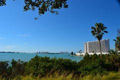 ClearWater Florida from a far. A far look at Clearwater Florida Royalty Free Stock Images