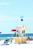 Clearwater Lifeguard Station Stock Photos