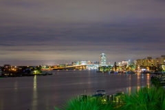 Clearwater memorial causeway bridge. In the night Stock Photo