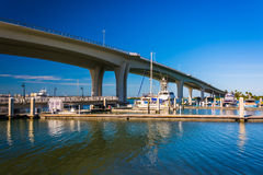 Clearwater Memorial Causeway, in Clearwater, Florida. Royalty Free Stock Images