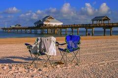 Clearwater plaża przy wschodem słońca Zdjęcie Royalty Free