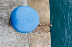 Cleat blauw met nummer acht Royalty-vrije Stock Foto