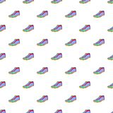Cleats pattern, cartoon style. Cleats pattern. Cartoon illustration of cleats vector pattern for web Stock Photo