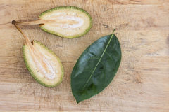 Cleaved immature jackfruit Royalty Free Stock Photography