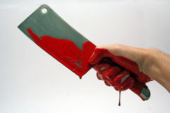 Cleaver. Bloodily cleaver stock images