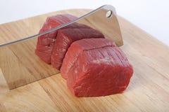 cleaver mięso Obraz Stock