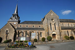 Clecy church in Normandie Royalty Free Stock Photography