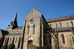Clecy church in Normandie Stock Photo