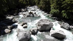 Cleddau river in Fiordland, New Zealand Stock Photo