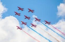 Cleethorpes沿海岸区,英国- 2013年7月19日:英国皇家空军a 库存图片