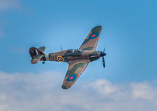 Cleethorpes Anglia, Lipiec, - 28, 2013: Domokrążcy Huragan samolot Obrazy Royalty Free