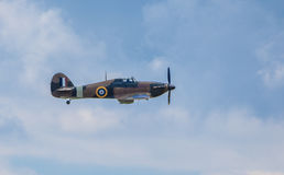 Cleethorpes, Inghilterra - 28 luglio 2013: Aeroplano di Hurricane del venditore ambulante immagini stock