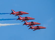 Cleethorpes seafront, England - July 19, 2013: Royal Air Force a Royalty Free Stock Photos