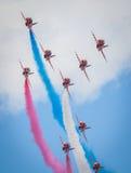 Cleethorpes sjösida, England - Juli 19, 2013: Royal Air Force a Arkivfoto