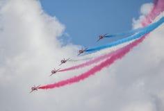 Cleethorpes sjösida, England - Juli 19, 2013: Royal Air Force a Arkivbild