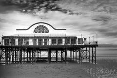 Cleethorpes strand och pir Fotografering för Bildbyråer