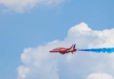 Cleethorpesstrandboulevard, Engeland - Juli 19, 2013: Royal Air Force a Stock Afbeelding