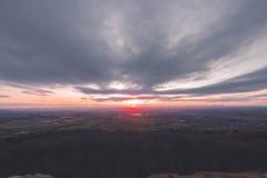 Cleeve-Hügelsonnenuntergang Stockfotografie
