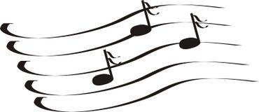 clef πρίμο σημειώσεων Στοκ Εικόνες